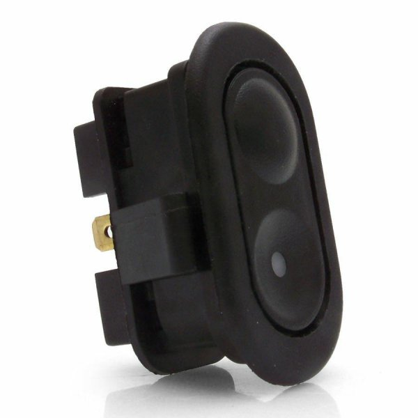 3 Position Oval Rocker Switch With Lighted Indicator