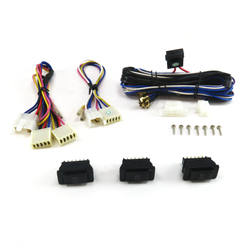Power Window Switch Kit with  Three SW3 Switches instructions, warranty, rebate