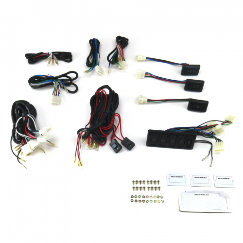 Power Window Switch Kit Seven SW3 Switches with Window Lock Switch instructions, warranty, rebate