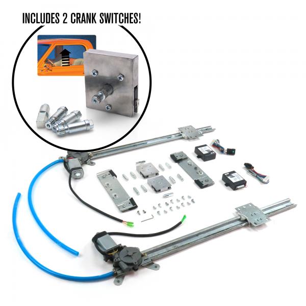 2 Door Flat Power Window Kit with Crank Switches « autoloc.comAutoloc